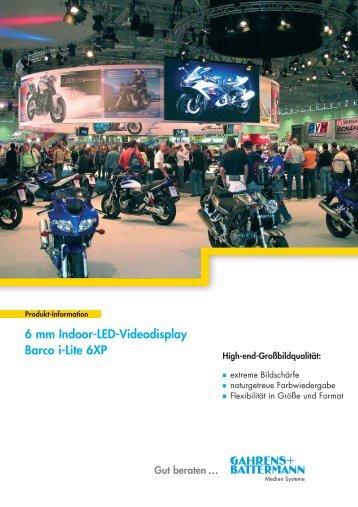 Gut beraten ... 6 mm Indoor-LED-Videodisplay Barco i-Lite 6XP