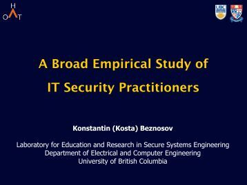 a security - LERSSE - University of British Columbia