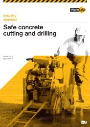 Industry Standard for Concrete Cutting and Drilling - WorkSafe Victoria
