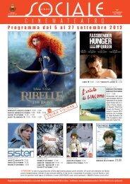 Programma dal 5 al 27 settembre 2012 - La Cineteca del Friuli