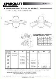 barreaux de barres de flèche avec ancrages / spreaders ... - Sparcraft