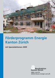 Förderprogramm Energie Kanton Zürich - Gemeinde Hedingen