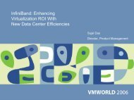 InfiniBand: Enhancing Virtualization ROI with - VMware