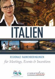 Italien I - Regionale Rahmenbedingungen für Meetings, Events und