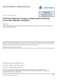 The Role of Adjuvant Therapy in Gastrointestinal stromal - Libertas ...