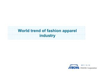 World trends of Fashion & Apparel Industry