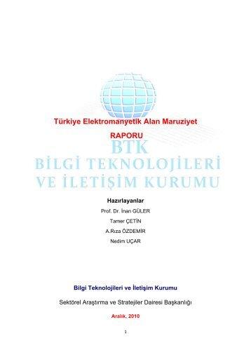 Türkiye Elektromanyetik Alan Maruziyet RAPORU