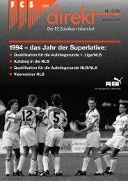 1994 – das Jahr der Superlative: - FC Solothurn