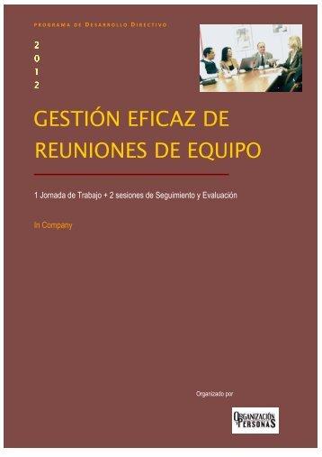 GESTIÓN EFICAZ DE REUNIONES DE EQUIPO - Grupo RH Asesores