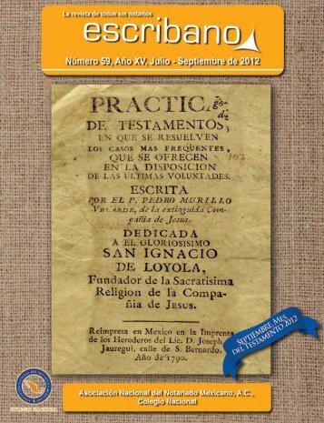 Septiembre de 2012 - Asociación Nacional del Notariado Mexicano