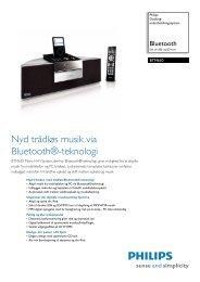BTM630/12 Philips Docking-underholdningssystem