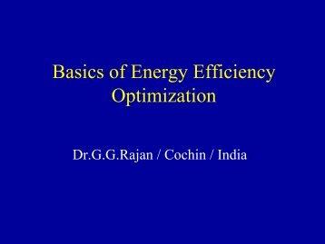Basics of Energy Efficiency Optimization