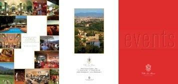 Meeting & Banquets Brochure - Villa La Massa