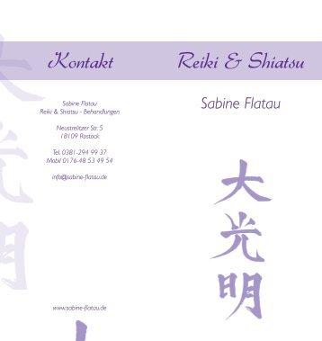 zu meinem Flyer - Reiki & Shiatsu - Sabine Flatau