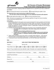 Troop Travel & Camping Approval Form - Girl Scouts of Greater ...