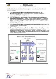 Beschreibung der Mailweiterleitung - ECG GmbH Berlin