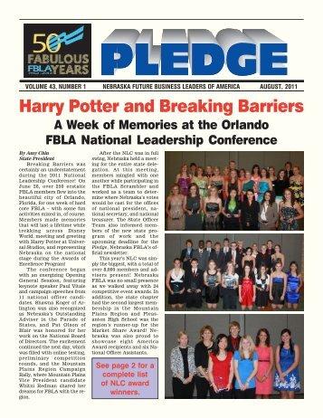 Harry Potter and Breaking Barriers - Nebraska FBLA