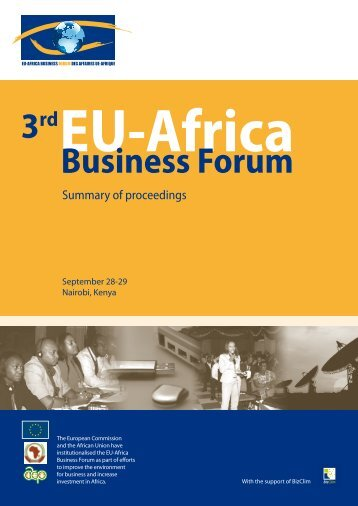 EU-AFRICA BUSINESS FORUM - ACP Business Climate