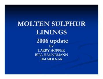 MOLTEN SULPHUR LININGS - Marts-rail.org
