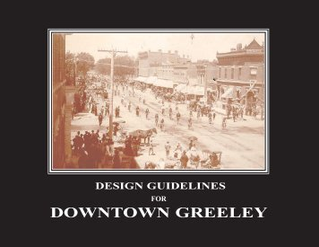 Cover, title,acknow - City of Greeley