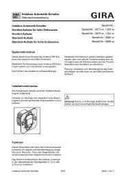 Instabus Automatik-Schalter Gebrauchsanweisung - Gira
