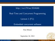 http://cs.lth.se/Eda040 Real-Time and Concurrent Programming ...