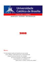 2008 - Universidade Católica de Brasília