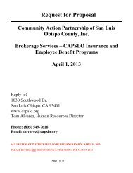 request for proposals - Community Action Partnership of San Luis ...