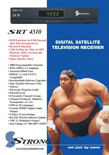 SRT 4310 Brochure - Strong Technologies