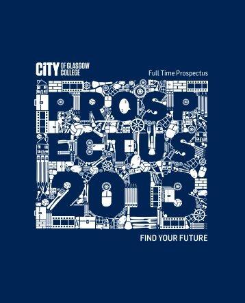 Full Time Prospectus - City of Glasgow College