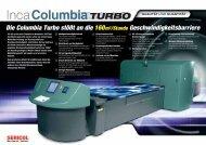 Inca Columbia Turbo Infobroschüre - Sericol