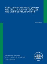 modelling perceptual quality and visual saliency for image and ...