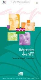 Répertoire des APP - C2RP
