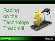 Racing on the Technology Treadmill - The e-tailing group