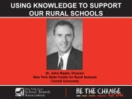 Using Knowledge to Support Our Rural Schools - New York State ...