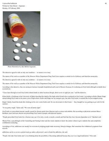 2009 2 2 A prescribed addiction - Stop Rx Drug Abuse