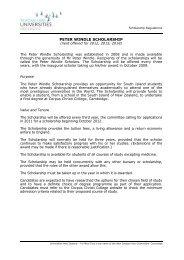 peter windle undergraduate scholarship - Universities New Zealand ...
