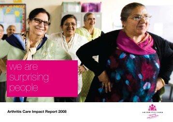 3. Impact Report 2008 - Arthritis Care
