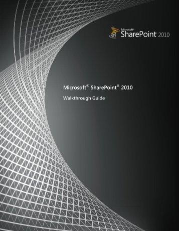 SharePoint 2010 Walkthrough Guide (PDF) - CTA