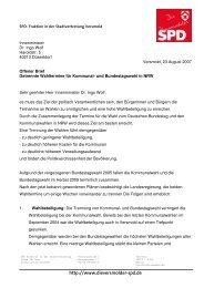 Offener Brief an den Innenminister des Landes NRW, Dr. Ingo Wolf ...