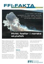 Hvitt fosfor i norske skytefelt