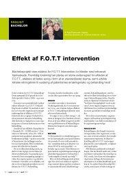 [pdf] Effekt af F.O.T.T intervention
