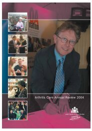 Annual Review 2004 (05) - Arthritis Care