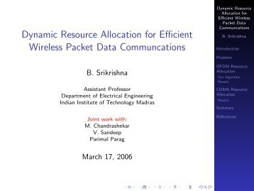 Dynamic Resource Allocation for Efficient Wireless Packet Data ...