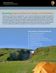 Greening Opportunities For Guides and Outfitters - National Park ...