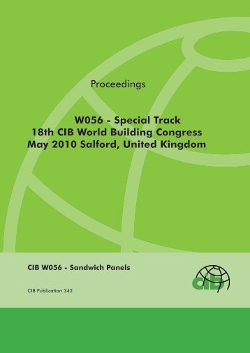 Proceedings W056 - Special Track 18th CIB World ... - Test Input