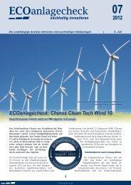 ECOanlagecheck - Chorus GmbH