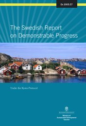 The Swedish Report on Demonstrable Progress - United Nations ...