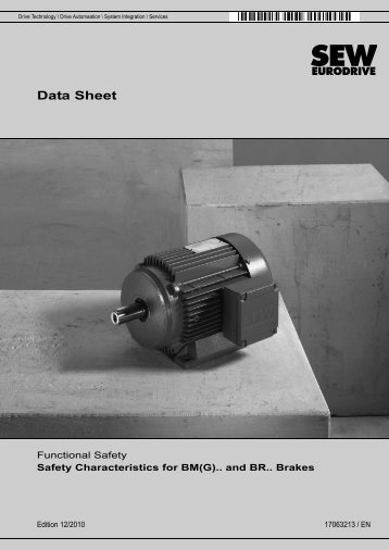 Data Sheet – Functional Safety Safety ... - SEW-Eurodrive