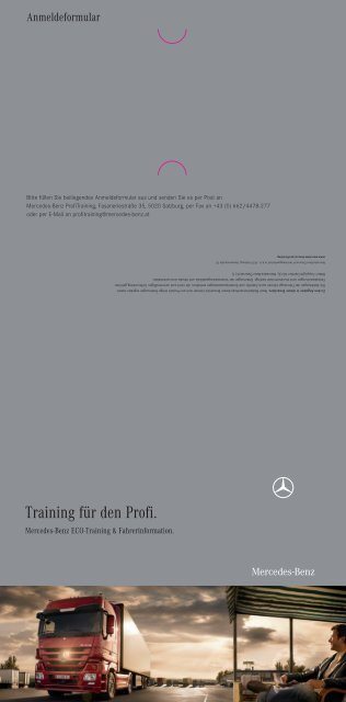 Download Folder ProfiTraining - Mercedes Benz